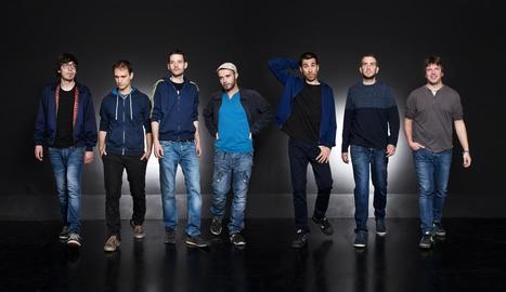 Els set integrants de la banda lleidatana La Terrasseta de Preixens, ara amb nou disc, 'Tou'.