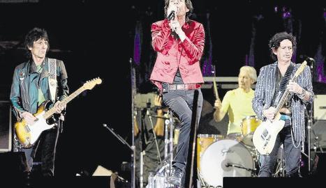 Els Rolling Stones, durant el concert que van oferir a l'Estadi Olímpic de Barcelona el 2007.