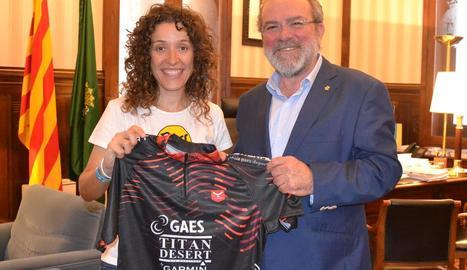 Reñé rep la ciclista Ramona Gabriel, segona en la Titan