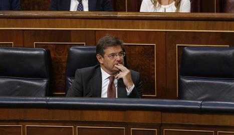 Catalá, ahir durant el debat de la seua reprovació, va deixar clar que no pensa dimitir.