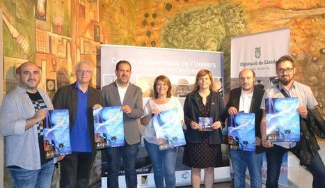 Presentació ahir a la Diputació de Lleida del cicle 'Música sota les estrelles' 2017 a Àger.