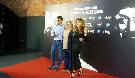 Luis Larrodera, Mayra Gómez Kemp i Miriam Díaz Aroca.