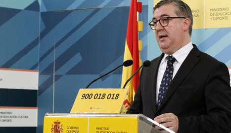 El secretari d'Estat d'Educació, Marcial Marín