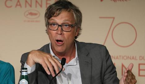 El director Todd Hayne, durant la roda de premsa al festival.