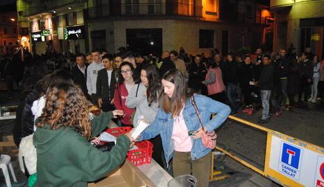 La llonganissada es va celebrar a la plaça Manuel Bertrand.