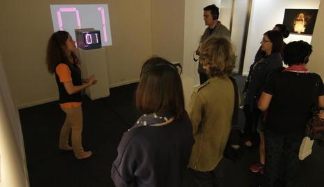 Visita ahir a la mostra 'Gestos iconoclastes, imatges heterodoxes'.