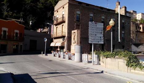 Imatge del pont de Sant Miquel a Balaguer.