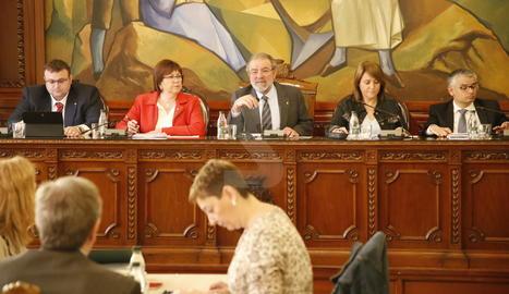El ple de la Diputació de Lleida celebrat aquest divendres, 19 de maig.