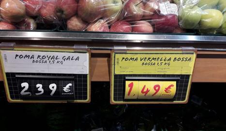 Imatge de les pomes efectuada per Asaja.