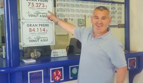 Honorato Ramos, aquest dijous, a l'administració de loteria.