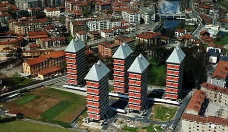 Una de les obres d'Armando com a arquitecte: els 'sputniks' de Tolosa.