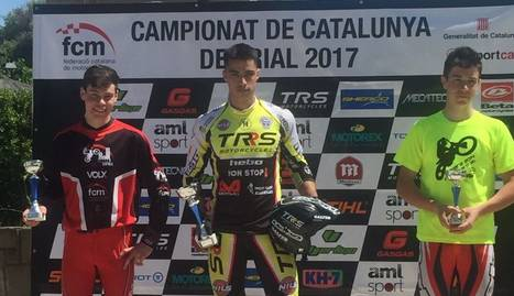 Sergio Ribau, tercer en el Català de trial
