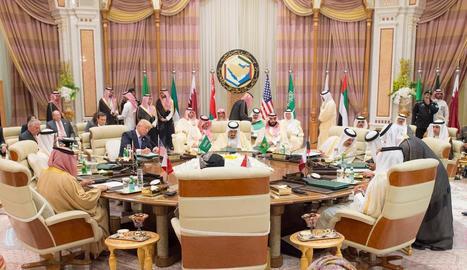 Un moment de la reunió entre Donald Trump i líders musulmans.