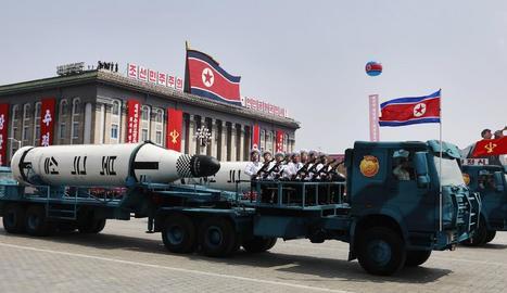 Imatge de l'última desfilada militar nord-coreana a Pyongyang.