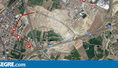 MAPA. Els punts clau de la persecució de Lleida