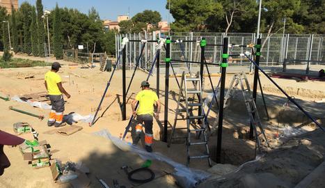 Aparells gimnàstics a Santa Cecília