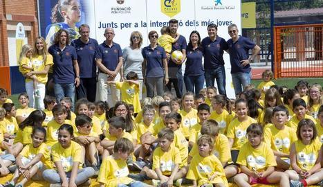 Gerard Piqué i Carles Puyol a Sant Guim de Freixenet