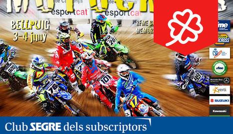Cartell del Campionat d'Espanya de Motocròs.
