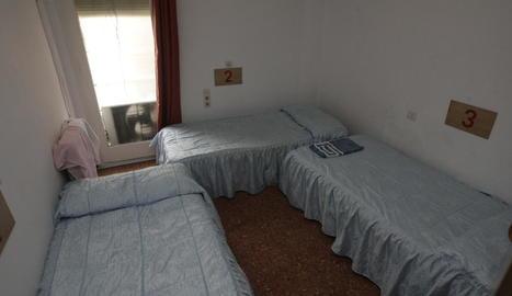 Imatge d'arxiu d'una de les habitacions de l'actual alberg Jericó, al carrer Tallada.