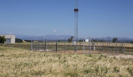 L'estació meteorològica de Massoteres, aprovada ahir.