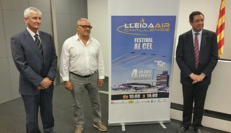 L'acte de presentació de la quarta edició del festival Lleida Air Challenge