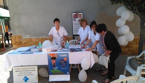 Imatge d'un dels actes que es van organitzar a Almacelles.