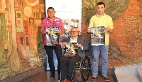 Miquel Plensa, Jordi Latorre i Jesús Brufal durant la presentació.