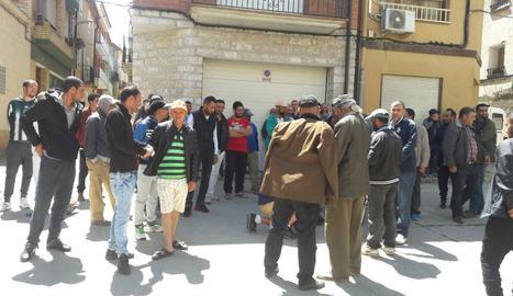 La protesta de temporers es trasllada a La Granja d'Escarp