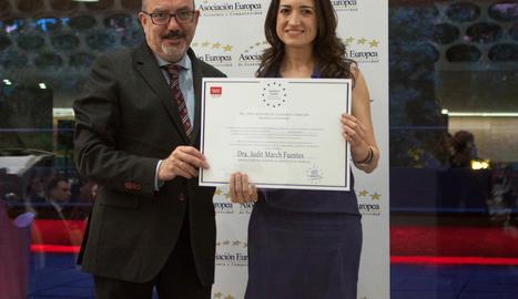 Una associació europea premia una psicòloga lleidatana