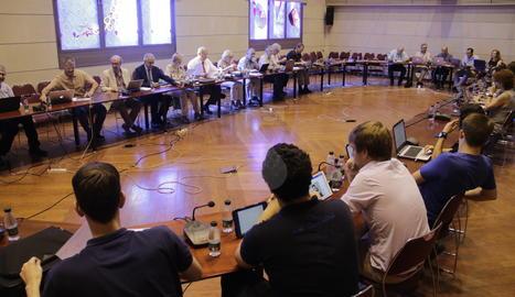 Un moment de la reunió del consell de govern de la UdL aquest dijous.