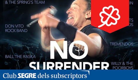 Cartell del No Surrender Festival, tribut a Bruce Springsteen.