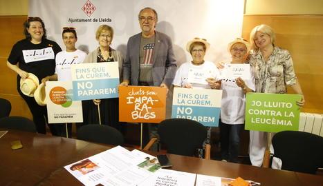 Presentació dels actes contra la leucèmia.