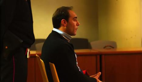 Jordi Lanuza Rubinat, durant el judici per segrestar l'exdona el 2005.