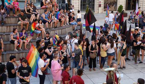 Manifestació descentralitzada de la Comissió Unitària 28-J per a l'alliberament lesbià, gai, transsexual, bisexual i intersexual