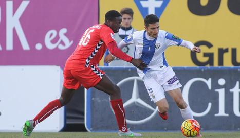 Moussa Bandeh, en un partit amb el Nàstic fa dos temporades.