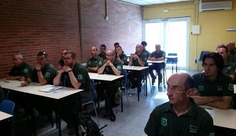 Agents rurals ahir en el curs de seguretat i autoprotecció.