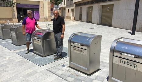 Els contenidors de la nova zona urbanitzada de les Borges.
