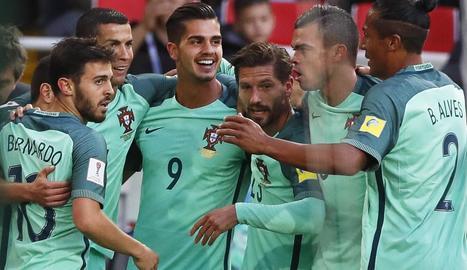 Cristiano va anotar ahir el gol de la victòria de Portugal davant de Rússia.