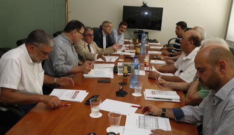 Imatge de la junta d'accionistes de Mercolleida, ahir.