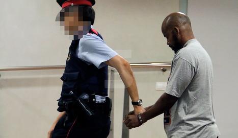 L'acusat, aquest divendres al jutjat de Lleida després d'escoltar el veredicte del jurat.