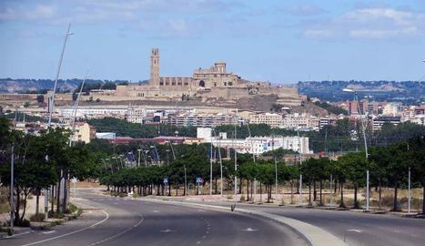 Imatge del vial d'accés actual a la zona de Torre Salses.
