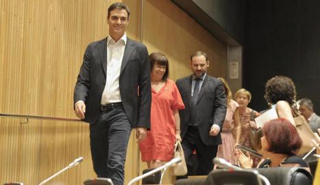 Pedro Sánchez s'ha reunit aquesta setmana amb els parlamentaris socialistes.