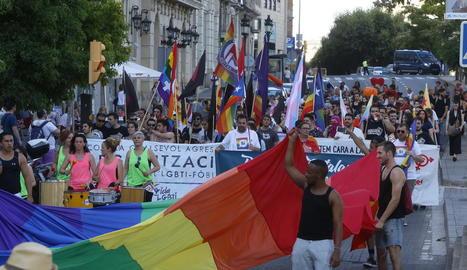 La celebració del Dia de l'Orgull Gai a Lleida dissabte passat.