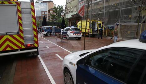 L'accident laboral s'ha produït al número 21 del carrer Balmes de Lleida.