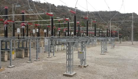 Imatge d'arxiu d'una subestació elèctrica