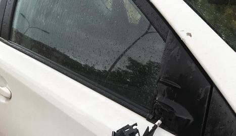 Imatge d'un dels disset cotxes afectats.