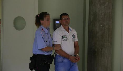 Josep Puig-Gros, dissabte als jutjats de Lleida.