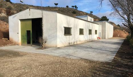 Edifici de l'estació de tractament d'aigua potable de Saidí.