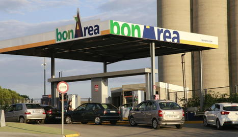 Imatge presa ahir d'una de les gasolineres Bonàrea de Lleida.