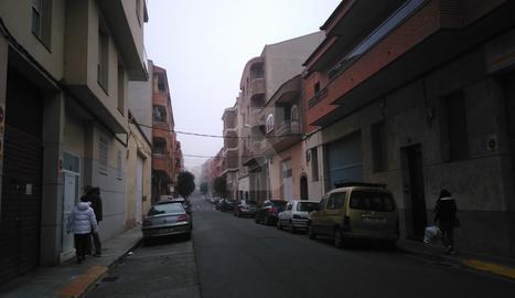 El carrer de les Roses de Lleida.